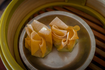Dim Sum in Bamboo Trays