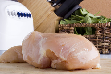 Raw chicken white meat