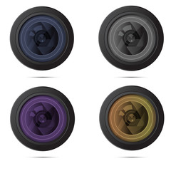 Camera Zoom Lens.Photo studio logo and business card template.