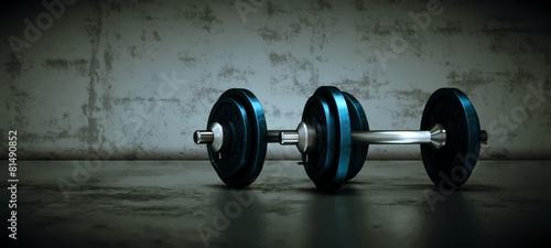 Hanteln im Fitnessraum