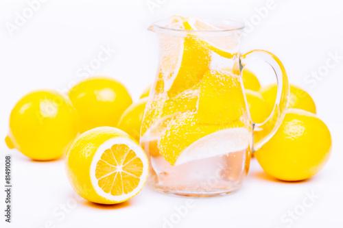 Fototapeta fresh lemon's water