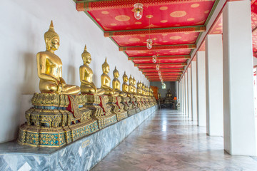 thai buddha statue in public temple