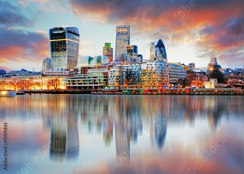 Canvas Europese Plekken London skyline