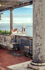 Portugal, Lisbon, view of Alfama neighborhood