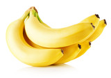 fresh bananas isolated on a white background
