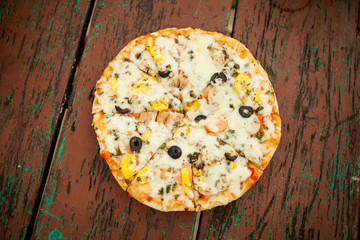 Cambodian happy herb pizza
