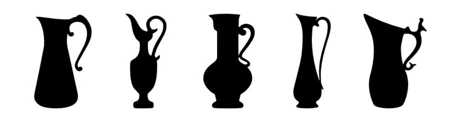 Karaffen Kannen Krüge Vasen Silhouetten