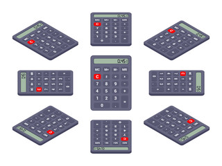 Black isometric calculator