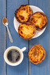 traditional portuguese cookies with coffee