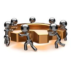 Partnership business teamwork brainstorming action process