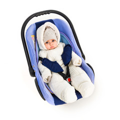 Six-month baby in a Car Seat