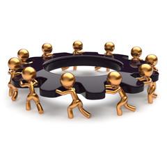 Teamwork business unity brainstorm process icon concept