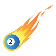 Billiard Ball in Fire