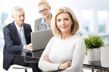 Attractive senior businesswoman