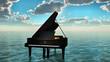 Leinwandbild Motiv piano sur l'océan 3
