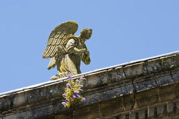 Stone Angel in a church in Galicia