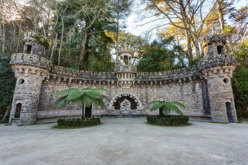 Architectural structures Quinta Regaleira. Sintra Portugal.