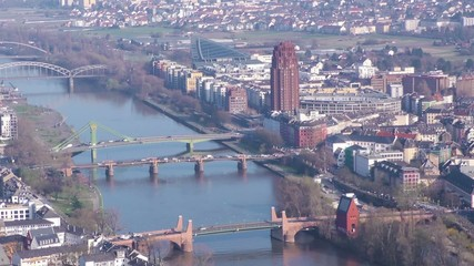 Frankfurt City and Main River Time Lapse