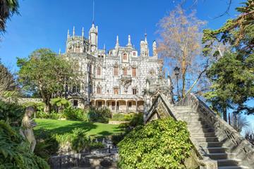 Beautiful Gothic castle Regaleira Rococo era.
