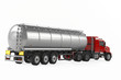 Fuel gas tanker truck back isolated - 81496235