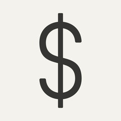 Flat in black and white mobile application dollar