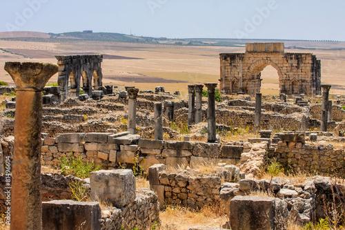 Fotobehang Marokko Roman site of Volubilis, Morocco