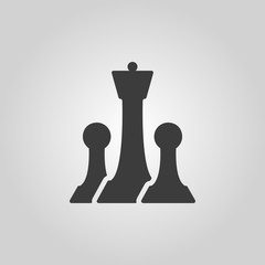 The chess icon. Game symbol. Flat