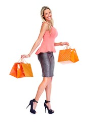Beautiful woman with shopping bags.