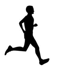 マラソン=シルエットイラスト