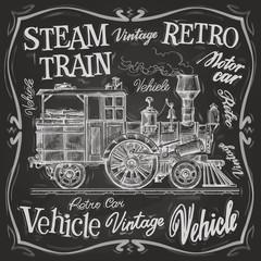 steam train vector logo design template. locomotive or