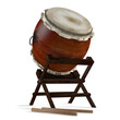 Taiko drums. Traditional Japanese instrument - 81498475
