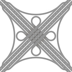 Cloverleaf Interchange Road Junction