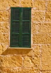 Alcudia Old Town wood shutters Mallorca