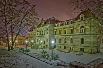 Winterliches Amtsgericht in Gotha