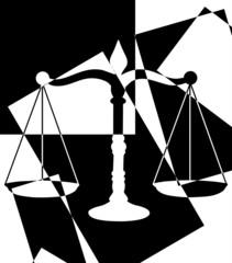 Balance de la justice noire et blanche