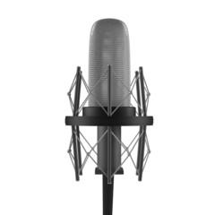 Classic studio microphone isolated