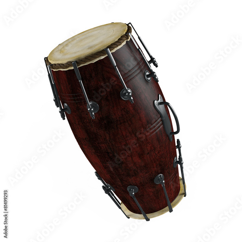 Traditional drums isolated - 81499293