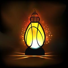 Arabic lantern for Muslims holy month Ramadan Kareem celebration