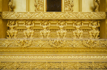 golden temple, Wat Paknam Joelo, Chachoengsao, Thailand