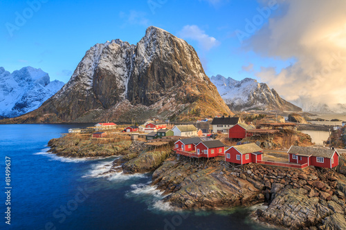 Keuken foto achterwand Bestsellers fishing villages in norway