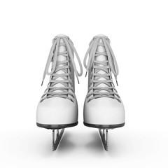 Figure skates front view
