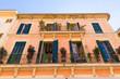 Leinwanddruck Bild - Alcudia Old Town in Majorca Mallorca Balearic