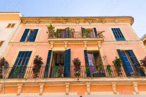 Leinwanddruck Bild Alcudia Old Town in Majorca Mallorca Balearic