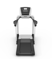 Treadmill on a white