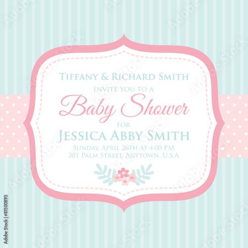 Baby Shower invitation - 81500893