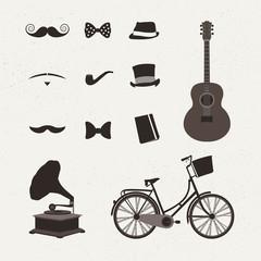 Vintage icon vectors