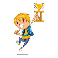 Child trophy celebration