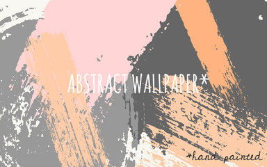 Abstract Brush Strokes Wallpaper Design