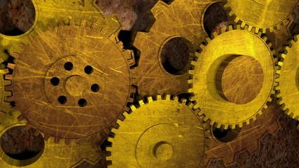 Old gear wheels loop.