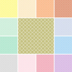 Quatrefoil pattern set with modern colors